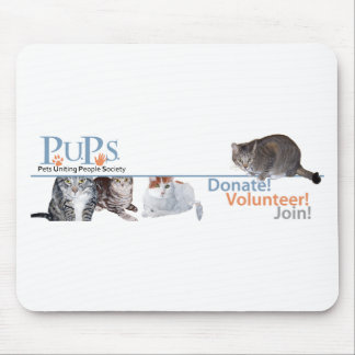PUPs Logo Merchandise with Cats Mousepad