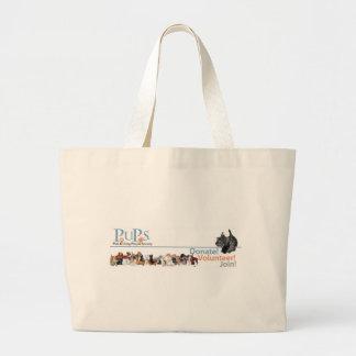 PUPs Logo Merchandise with Scottie Canvas Bag