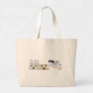 PUPs Logo Merchandise with Shih Tzu Canvas Bag