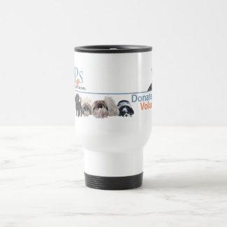 PUPs Logo Merchandise with Tabby Cat Travel Mug