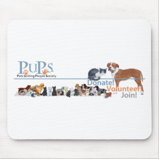 PUPs Logo with Dogs and Cats Mousepads