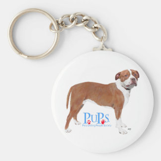 PUPs Rescued Pit Bull Key Chain