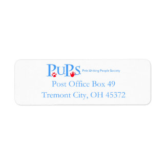 PUPs Return Address Labels