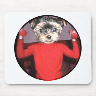 Pups workout mouse pad