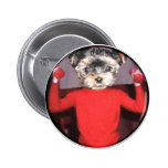 Pups workout pinback button