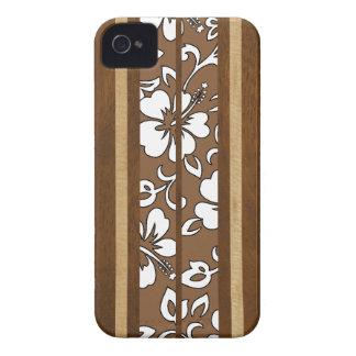 Pupukea Hibiscus Hawaiian Surfboard iPhone 4 Cases iPhone 4 Case