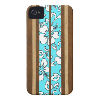 Pupukea Hibiscus Hawaiian Surfboard iPhone 4 Cases