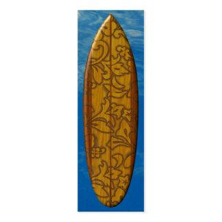 Pupukea Pareau Surfboard Bookmark Business Card Templates