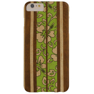 Pupukea Vintage Hawaiian Faux Wood Surfboard Barely There iPhone 6 Plus Case