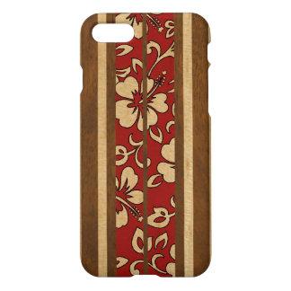 Pupukea Vintage Hawaiian Faux Wood Surfboard iPhone 8/7 Case