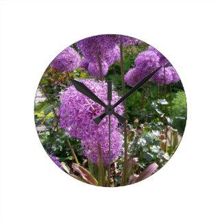 PUR-polarize Allium Round Clock