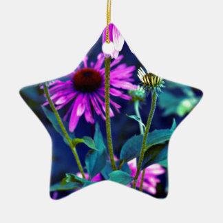 PUR-polarize Coneflowers Ceramic Ornament
