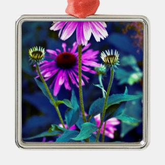 PUR-polarize Coneflowers Metal Ornament