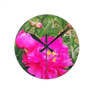 PUR-polarize Flower Round Wallclocks