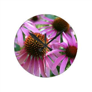 PUR-polarize Flower Round Wall Clock