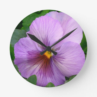 PUR-polarize Flower Round Wall Clocks