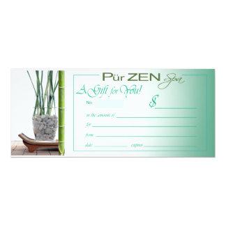 Zen invitations announcements zazzle pur zen aqua gift certificate card stopboris Gallery