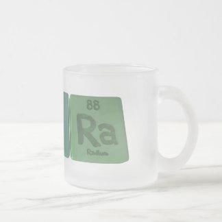 Pura as Phosphorus Uranium Radium Frosted Glass Coffee Mug
