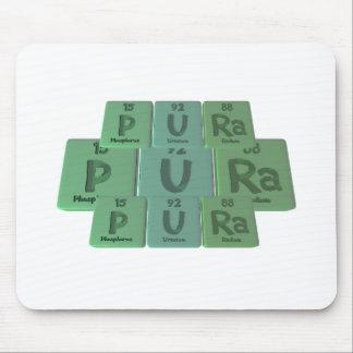 Pura como radio del uranio del fósforo mouse pad