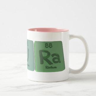 Pura como radio del uranio del fósforo taza dos tonos