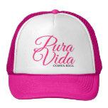 Pura rosado Vida Costa Rica de las mujeres Gorra