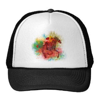 Pura sangre colorido en tipografía gorras