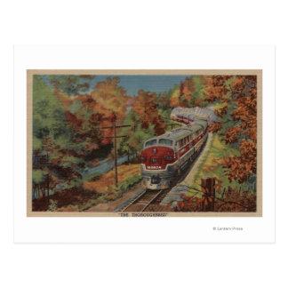 Pura sangre del Tren-, Monon Tarjetas Postales