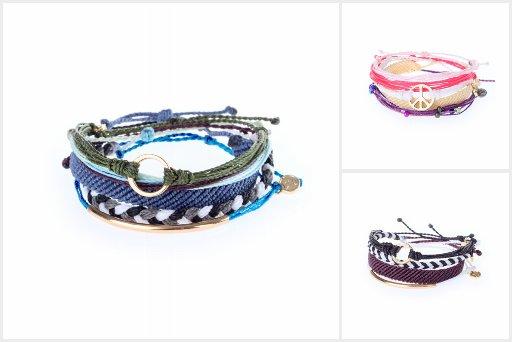 Pura Vida Braided Charm Bracelets