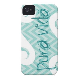 Pura Vida Chevron Teal Wave iPhone 4 Covers