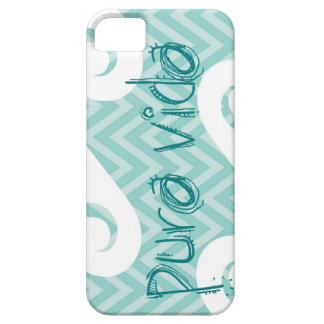 Pura Vida Chevron Teal Wave iPhone SE/5/5s Case
