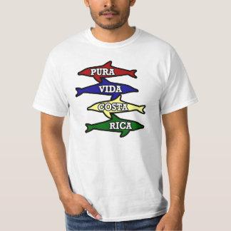 Pura Vida Costa Rica Colored Dolphins T Shirts