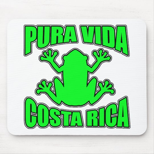 Pura Vida Costa Rica Dark Green Frog Mouse Pad