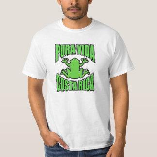 Pura Vida Costa Rica Dark Green Frog T Shirt