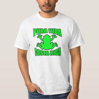 Pura Vida Costa Rica Frog Green Shirt