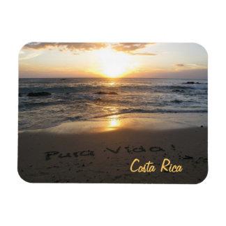 Pura Vida Costa Rica Imán De Vinilo