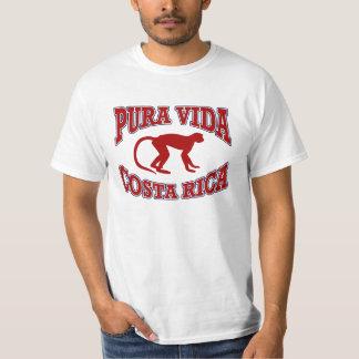 Pura Vida Costa Rica Monkey Red Tshirt
