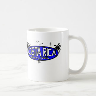 Pura Vida Costa Rica - óvalo tropical - azul Taza