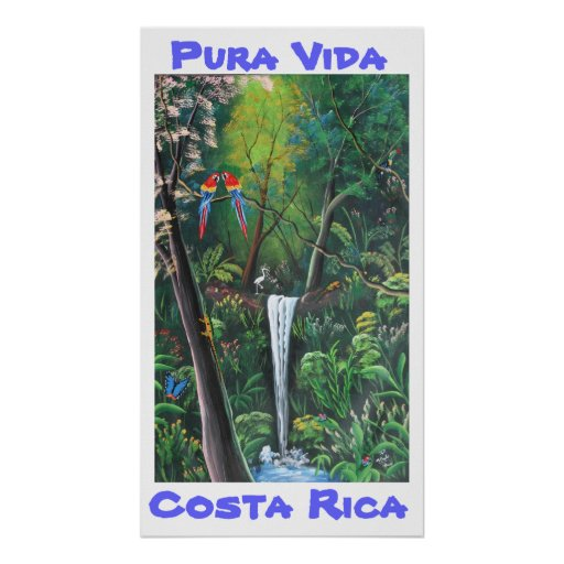 Pura Vida Costa Rica Print