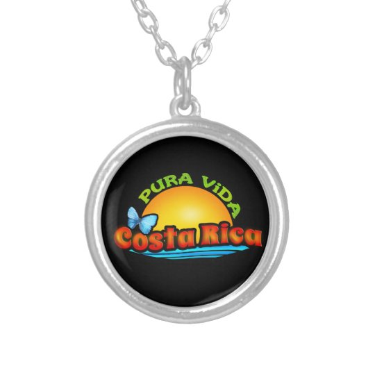Pura Vida Costa Rica Silver Plated Necklace