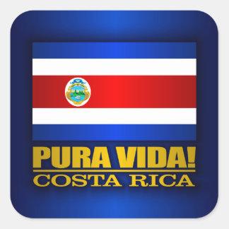 Pura Vida! Costa Rica Square Sticker
