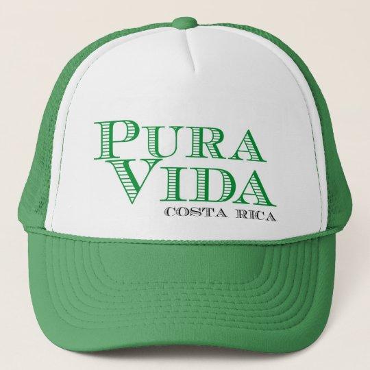 Pura Vida Green Costa Rica Souvenir Trucker Hat  ea87bf85572