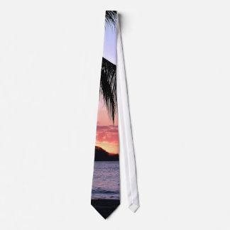 ¡Pura Vida! Lazo de la puesta del sol Corbatas Personalizadas