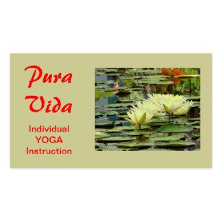PURA VIDA LOTUS BLOSSOMS BUSINESS CARD