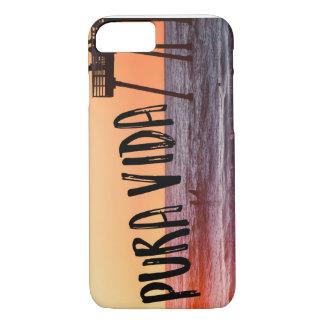 Pura Vida Ocean Beach Sunset Photo iPhone Case