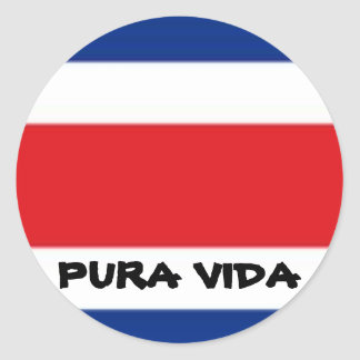 PURA VIDA PEGATINAS REDONDAS