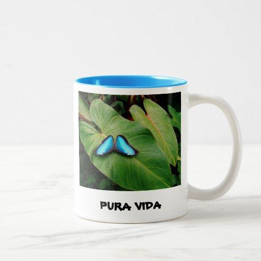 "PURA VIDA ""PURE LIFE"" COFFEE MUG"