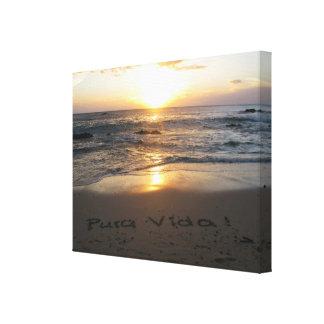Pura Vida! Stretched Canvas Print