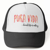Pura Vida Women's Orange Sunset Trucker Hat