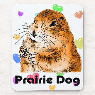 purairie dog face 3 mouse pad
