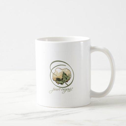 Puramente orgánico taza de café